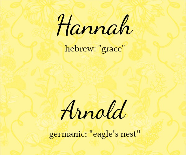 hannah arnold name meaning card